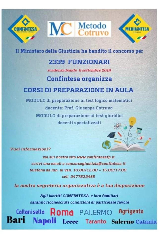 FLASH 2019 N 13 CORSO DI PREPARAZIONE AL CONCORSO PER FUNZIONARI